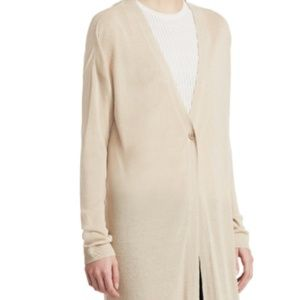 Theory - Linen Blend Maxi Cardigan